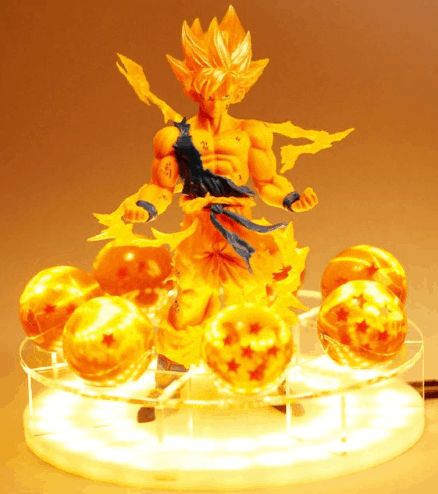 Dragon Ball Z Son Goku Spirit Bomb Night Light
