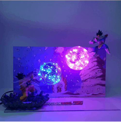 Dragon Ball Lamp Goku VS Vegeta Galick Gun Led Night Lights