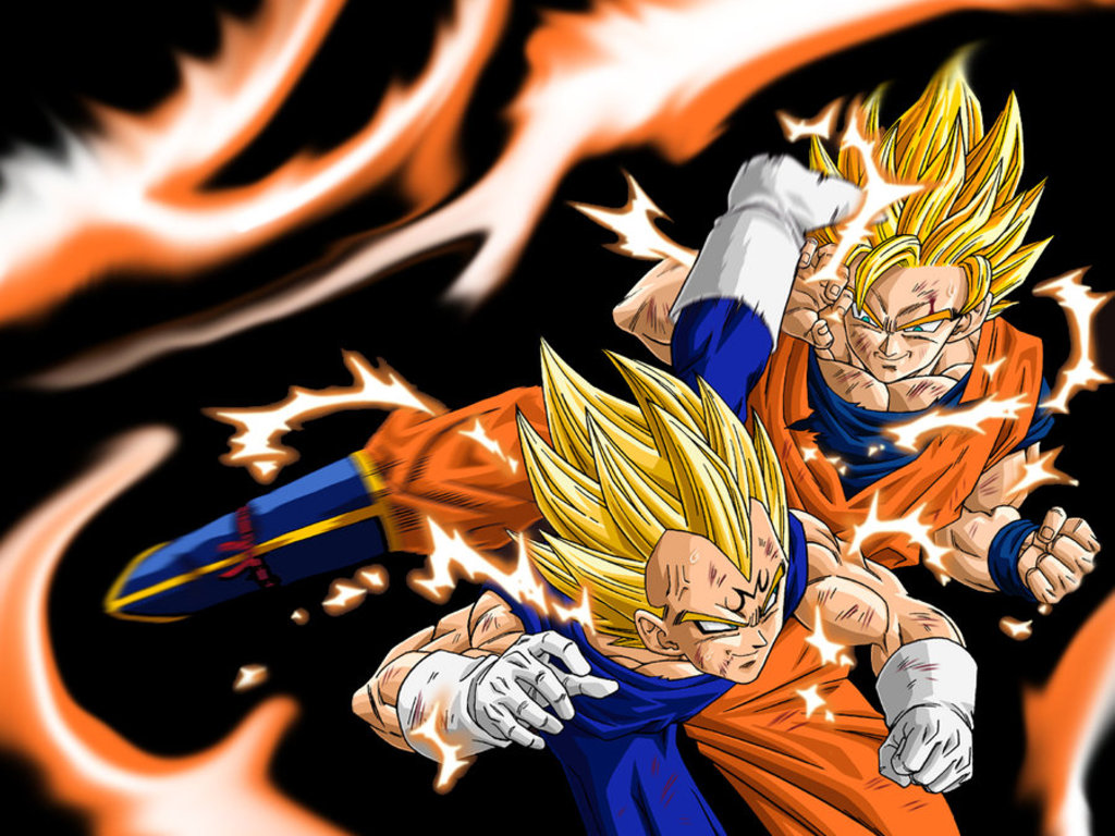 Image result for Goku Vs. Majin Vegeta