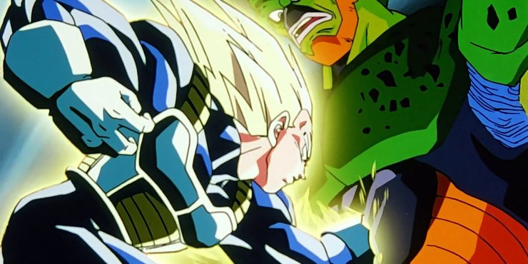 Vegeta And Cell In Dragon Ball Z