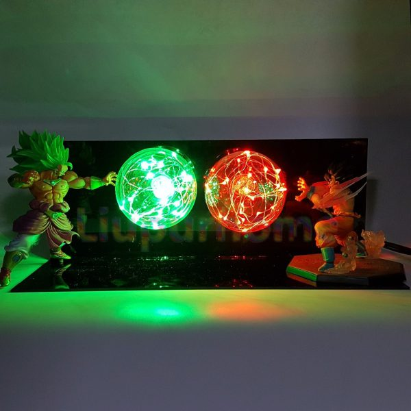 Son Goku VS Broly Led Scene Anime DIY 3D Light Lamp - DBZ Shop