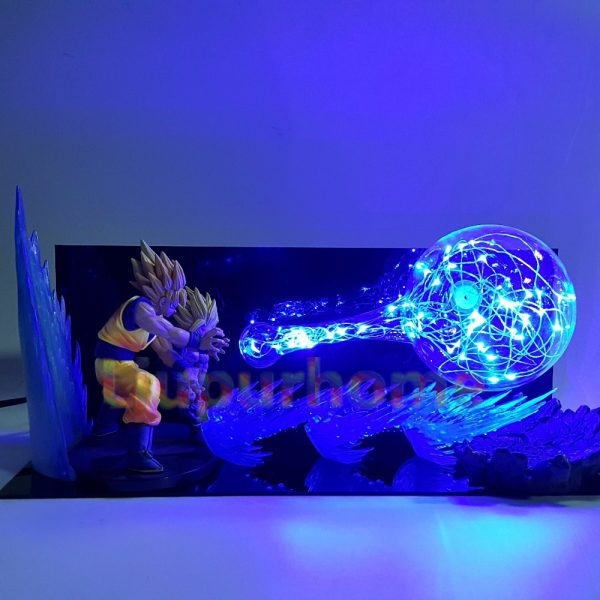 Son Goku vs Son Gohan Kamehameha DIY 3D Light Lamp