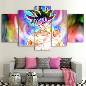 5 Pieces Dragon Ball Goku Colorful Wall Decor Canvas - DBZ Shop