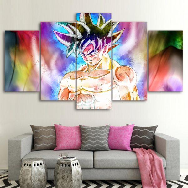 5 Pieces Dragon Ball Goku Colorful Wall Decor Canvas - DBZ Shop