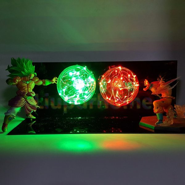 Dragon Ball Z Son Goku VS Broly Led Scene Anime Dragon Ball Super Table Lamp Toy 2 - DBZ Shop