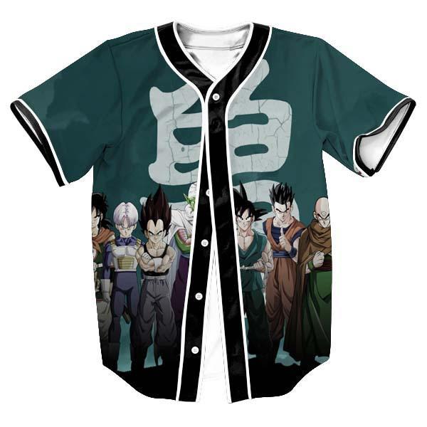 Dragon Ball Z Theme Baseball Jersey - DBZ Shop