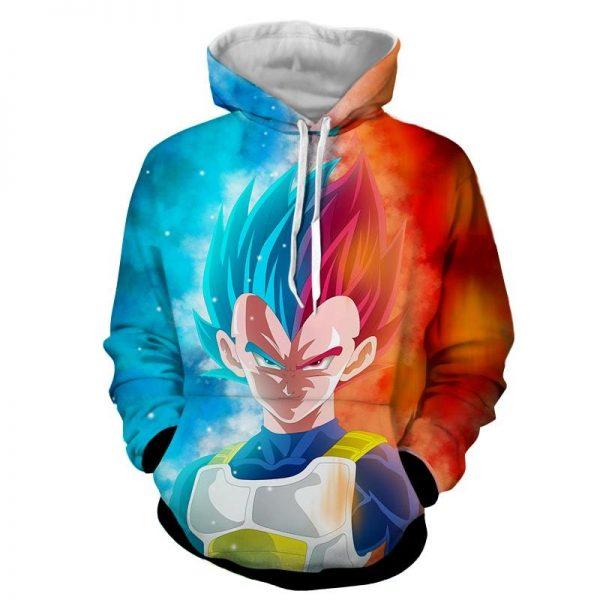 Dragon Ball Super Saiyan Serious Vegeta Blue Red Cool Hoodie  1 - DBZ Shop