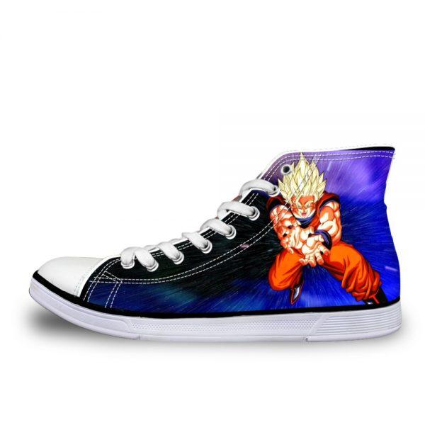 FORUDESIGNS 2019 New Casual Vulcanize Shoes Dragon Ball Anime Pattern Super Saiyan Cartoon Son Goku Print - DBZ Shop