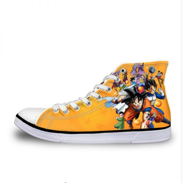 FORUDESIGNS 3D Dragon Ball Print Women Leisure Canvas Shoes Spring Stylish High Top Female Vulcanized Shoes - DBZ Shop