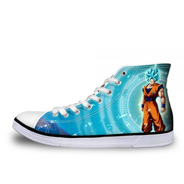 FORUDESIGNS Dragon Ball Z Cartoon Japanese Anime Printing Canvas Shoes Flats Casual Vulcanize Shoes Super Saiyan - DBZ Shop