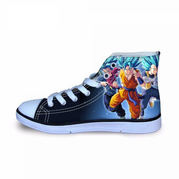 FORUDESIGNS Dragon Ball Z Kids Sneakers for Boys Japanese Anime Printing Children Shoes High Top Canvas - DBZ Shop