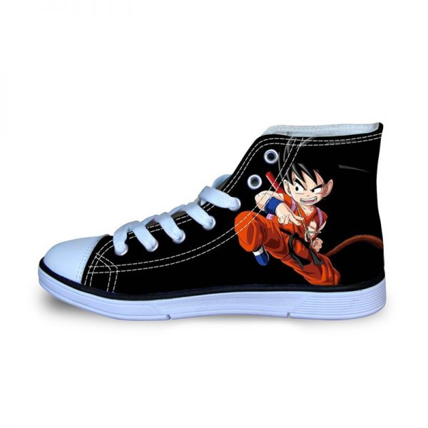 FORUDESIGNS Dragon Ball Z Printed Sport Shoes for Boys Children Sneakers Hihg Top Canvas Flats Running - DBZ Shop