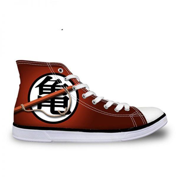 FORUDESIGNS Fashion Anime Dragon Ball Z Mens High top Vulcanized Shoes One Piece Print Canvas Shoes - DBZ Shop