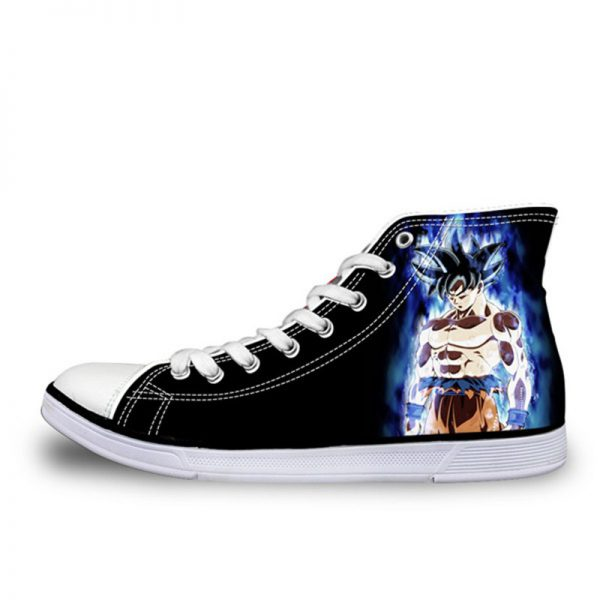 FORUDESIGNS Teenagers Boys High top Vulcanized Shoes HOT Anime Dragon Ball Z Super Canvas Shoes for - DBZ Shop