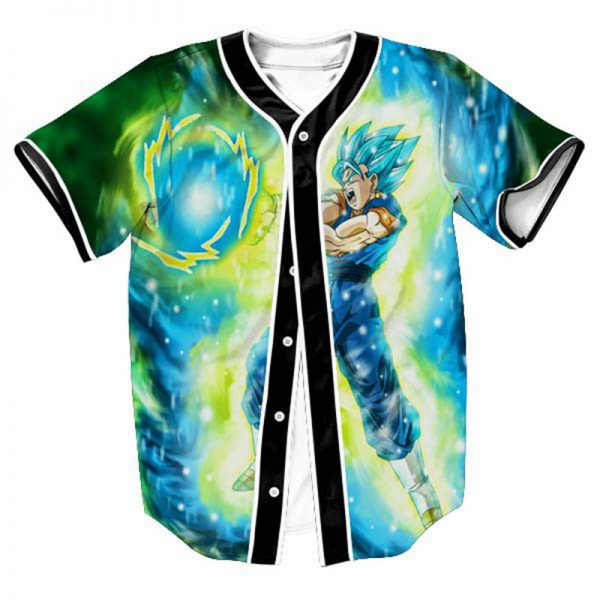 Strong Goku Blue Super DBZ Baseball Jersey 1 - DBZ Shop