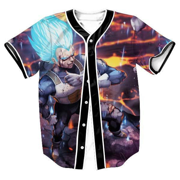 Super DBZ Vegeta Blue Baseball Jersey - DBZ Shop
