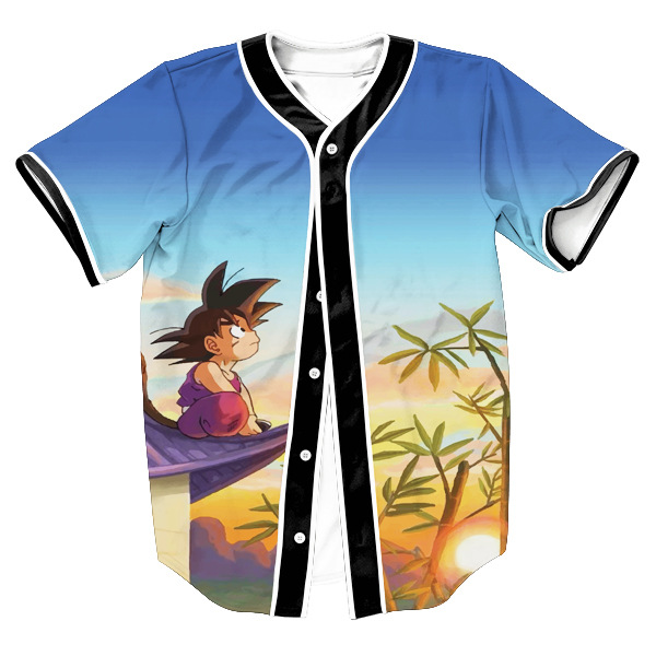 Super Dragon Ball Goku Kid Style Baseball Jersey - DBZ Shop