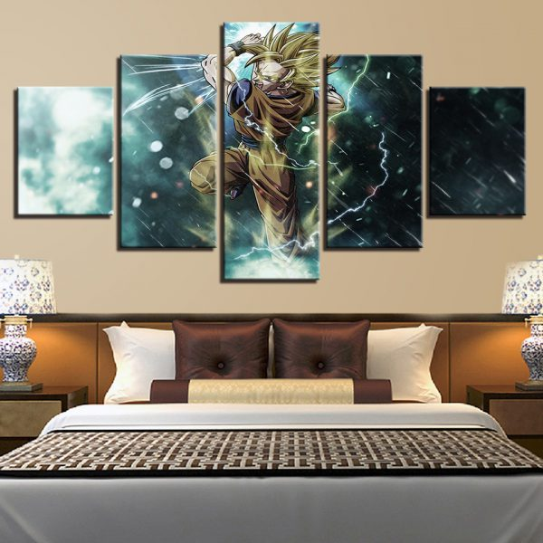 Super Sogoku Fighting Wall Art Framework - DBZ Shop