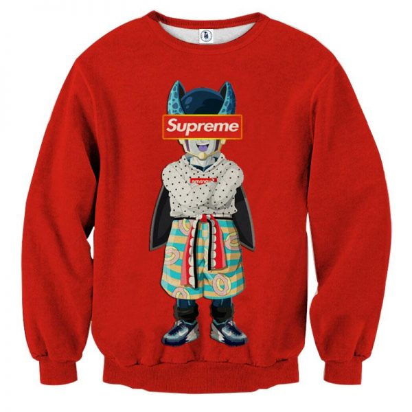 07 Supreme Villain Perfect Cell Red Simple Cool Desgin Sweatshirt - DBZ Shop