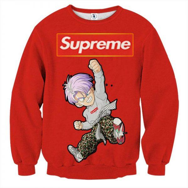 09 Supreme Kid Trunks Jumping Red Trendy Fashion Sweatshirt - DBZ Shop