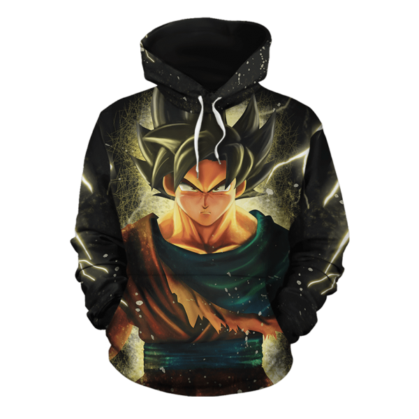 DBZ1009Dragon Ball Z The Remarkable Son Goku Black Pullover Hoodie - DBZ Shop
