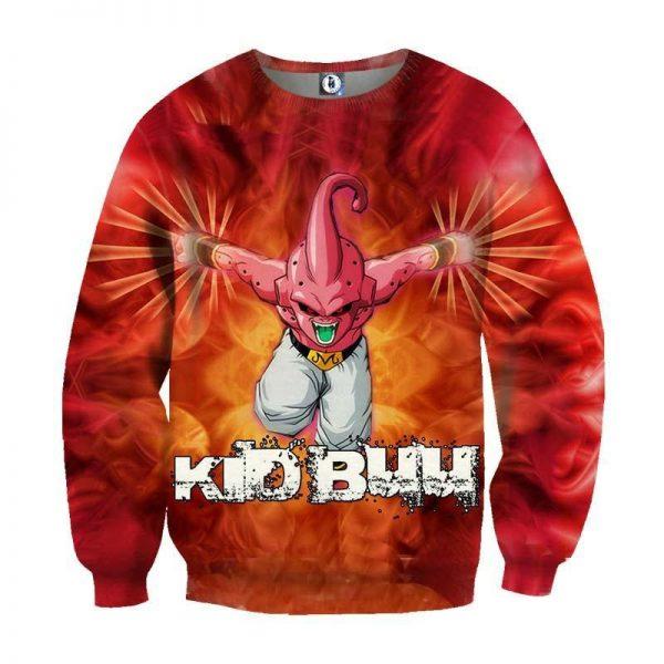DBZ Kid Buu Villain Inferno Back Ground Dope Winter Sweatshirt - DBZ Shop