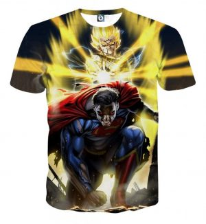 DBZ Super Yellow Majin Vegeta Superman Epic Battle TShirt  1 scaled 1 - DBZ Shop
