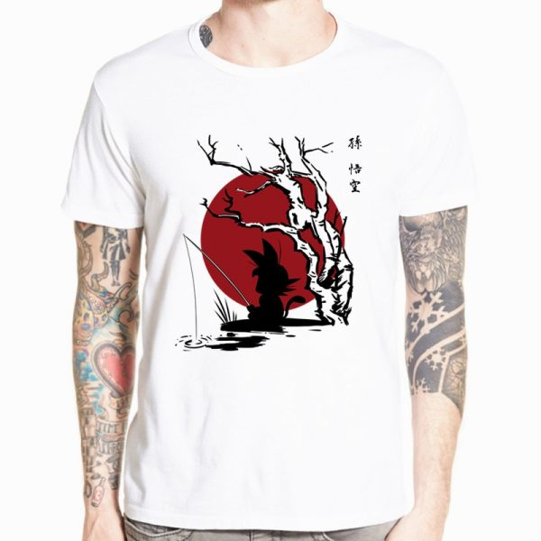 Dragon Ball Z Goku T shirt Short sleeve O Neck Tshirt Summer Saiyan Vegeta Harajuku brand 18 - DBZ Shop