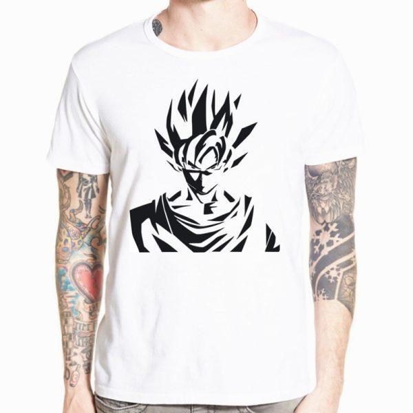 Dragon Ball Z Goku T shirt Short sleeve O Neck Tshirt Summer Saiyan Vegeta Harajuku brand 23 - DBZ Shop