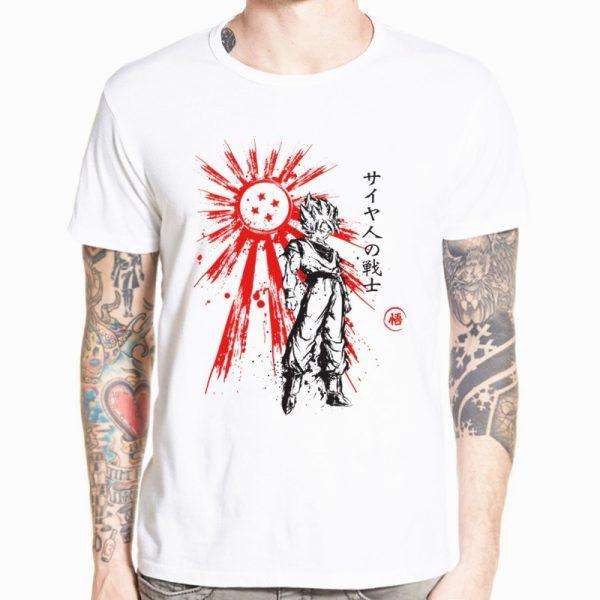 Dragon Ball Z Goku T shirt Short sleeve O Neck Tshirt Summer Saiyan Vegeta Harajuku brand 7 - DBZ Shop