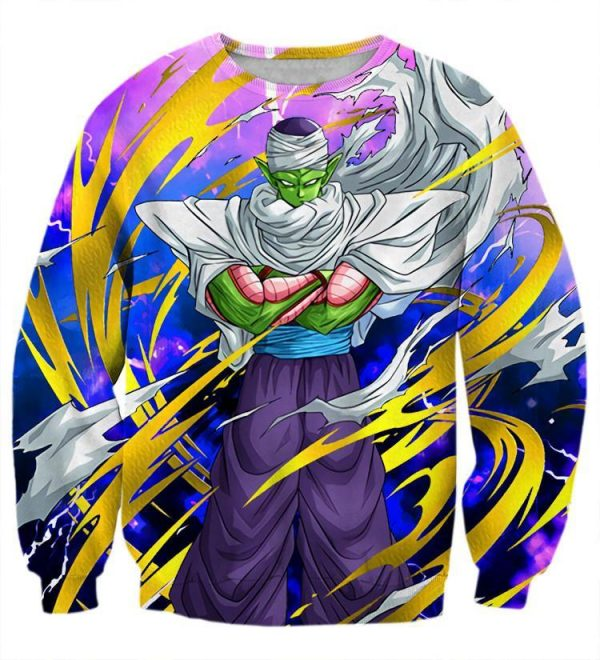 Dragon Ball Angry Piccolo Waiting Fight Aura Yellow Fashion Sweatshirt - DBZ Shop