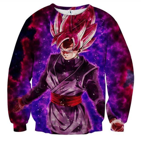 Dragon Ball Black Goku Rose 2 Ultra Instinct Dope Sweatshirt  1 - DBZ Shop