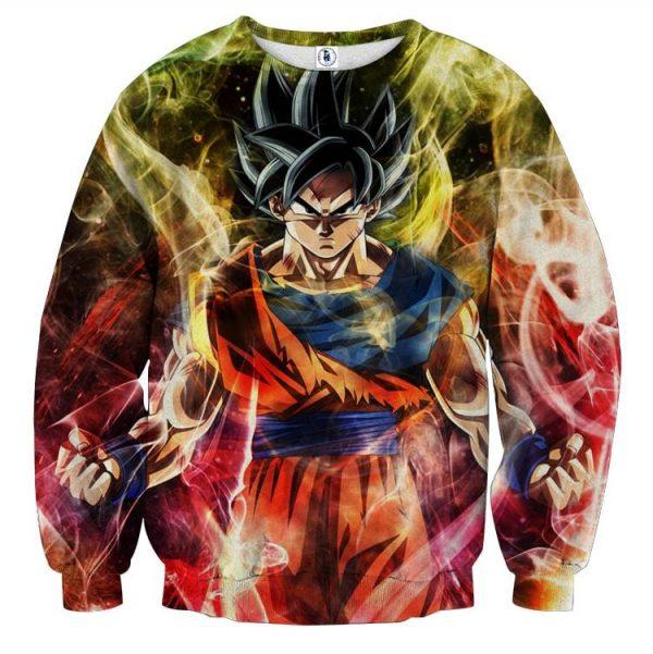 Dragon Ball Goku Super Saiyan God Ultra Instinct Sweatshirt  1 - DBZ Shop