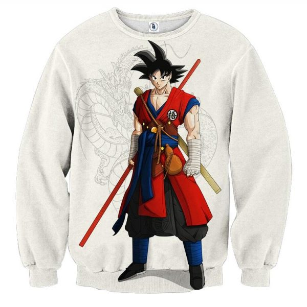 Dragon Ball Z Cool Adult Goku Fighter Attire Shenron Sweater  1 - DBZ Shop