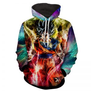 Dragon Ball Z Son Goku Ultra Instinct Colorful Hoodie - DBZ Shop