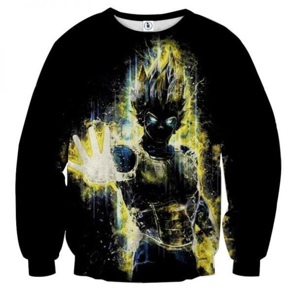 Dragon Ball Z Super Saiyan Vegeta Yellow Aura Epic Sweatshirt  2 - DBZ Shop