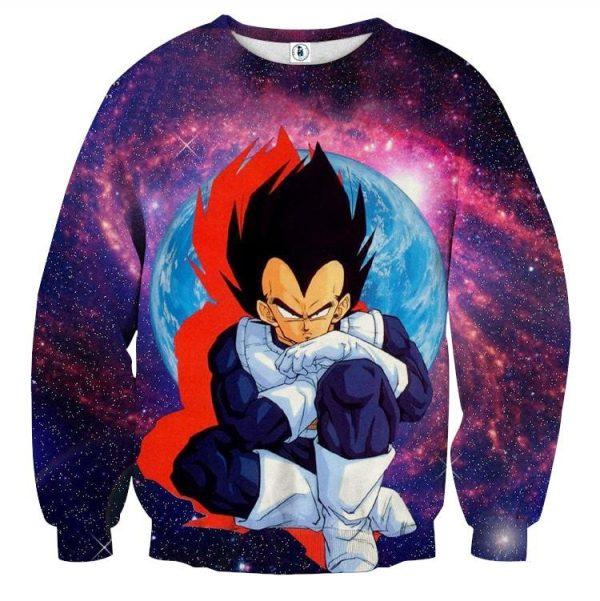 Dragon Ball Z Vegeta Classic Sit Pose Pissed Dope Sweatshirt  1 - DBZ Shop