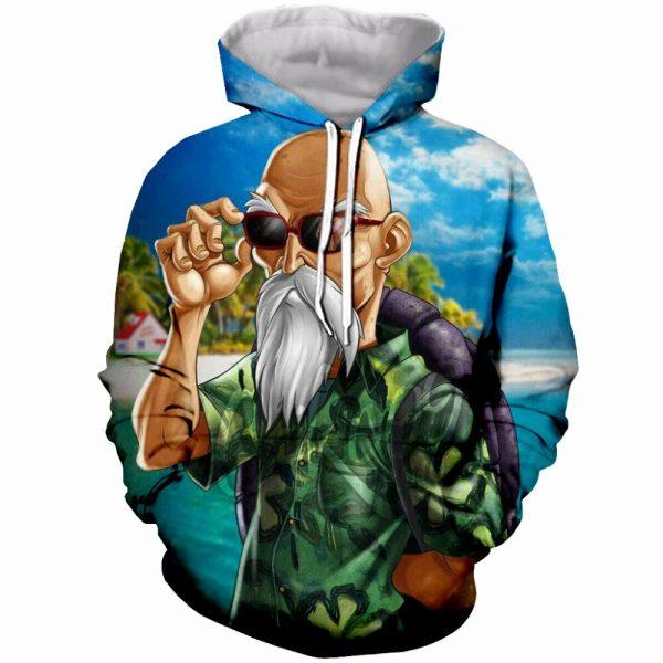 Hot Sale Dragon Ball Super Saiyan Hooded Sweatshirt Men Women Hoodie Sweatshirt Anime Roshi Master Print - DBZ Shop