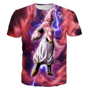 Majin Ultimate Mighty Kid Buu Tie Dye Lightning Amazing 3D T Shirt - DBZ Shop