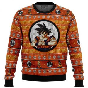 Son Guko Dragonball Z men sweatshirt FRONT mockup - DBZ Shop