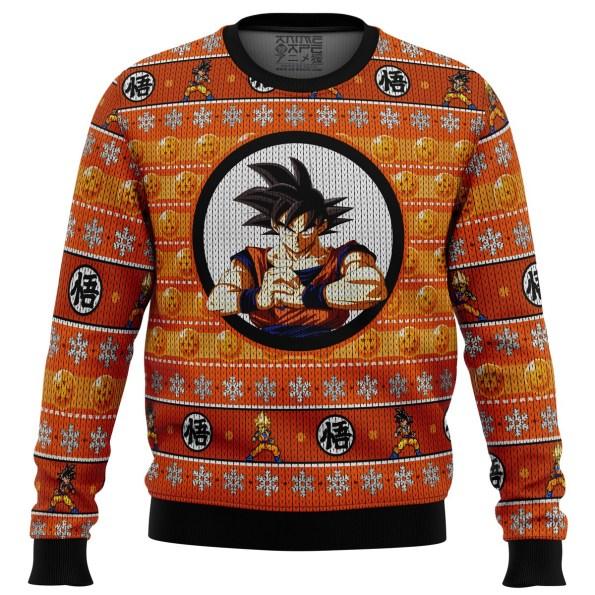 Son Guko Dragonball Z men sweatshirt FRONT mockup - DBZ Shop