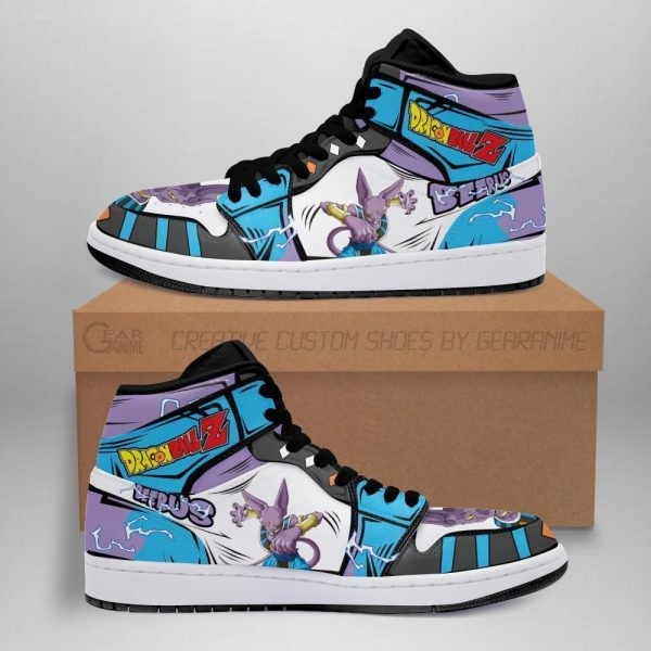 beerus dragon ball super anime jordan sneakers fan gift mn04 - DBZ Shop