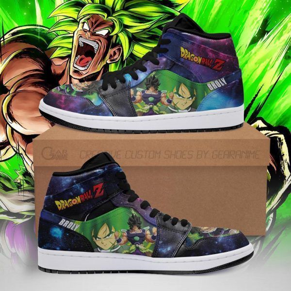 broly dragon ball super anime jordan sneakers pt04 - DBZ Shop