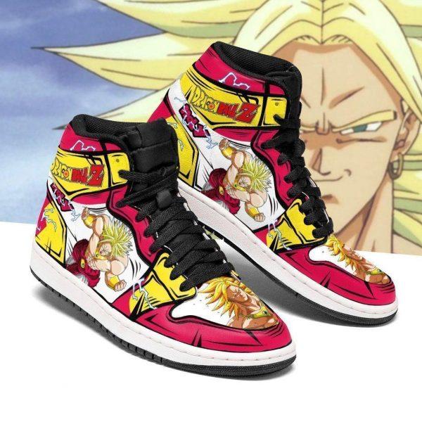 broly dragon ball z anime jordan sneakers fan gift mn04 gearanime - DBZ Shop