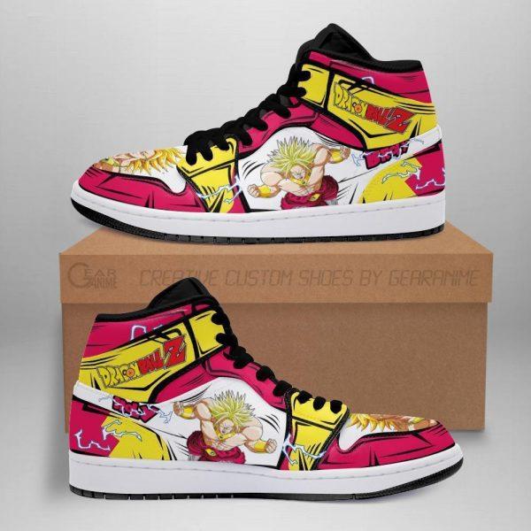 broly dragon ball z anime jordan sneakers fan gift mn04 - DBZ Shop