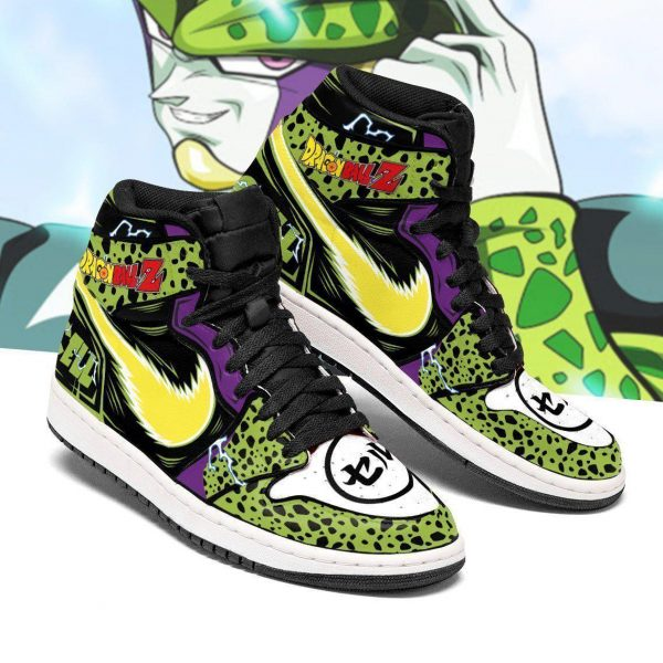 cell shoes boots dragon ball z anime jordan sneakers fan gift mn04 gearanime - DBZ Shop