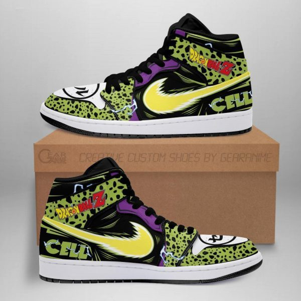 cell shoes boots dragon ball z anime jordan sneakers fan gift mn04 - DBZ Shop