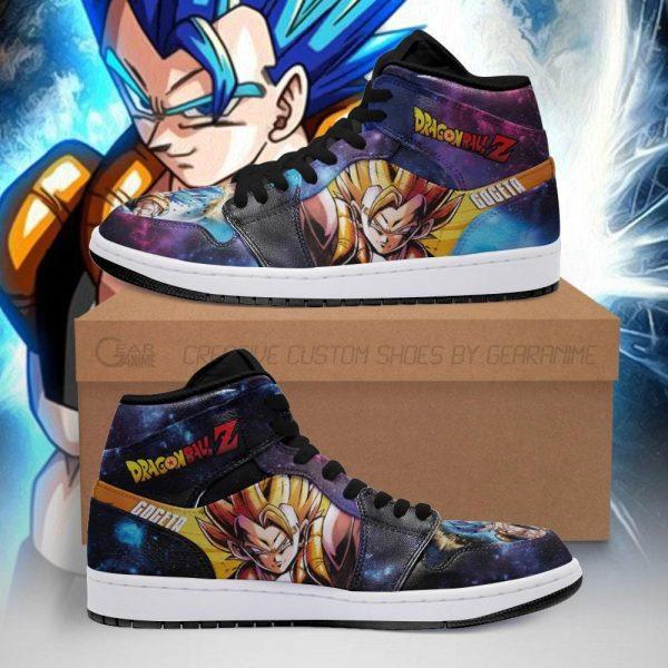 gogeta jordan sneakers galaxy dragon ball z anime shoes fan pt04 - DBZ Shop