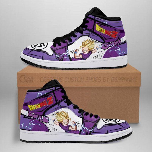 gohan shoes boots dragon ball z anime jordan sneakers fan gift mn04 - DBZ Shop