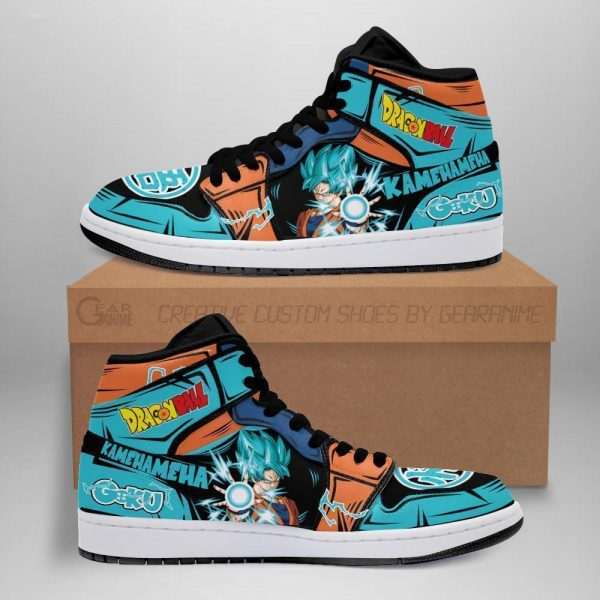 goku blue jordan sneakers dragon ball anime shoes fan mn05 - DBZ Shop
